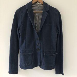 I love H81 | Forever 21 Blue Cotton Blazer